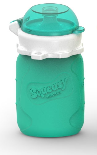 Squeasy Snacker pullo 1,8dl, aqua
