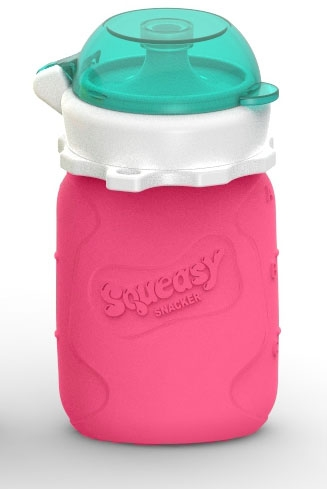 Squeasy Snacker pullo 1,8dl, pinkki