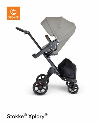 Stokke Xplory with  Brown leatherette handle rattaat