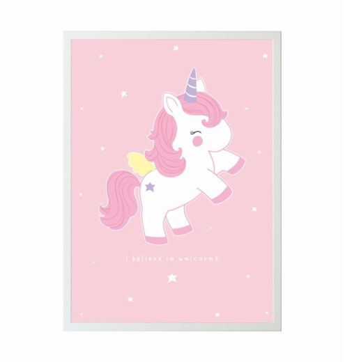 A Little Lovely Company Juliste, Baby Unicorn
