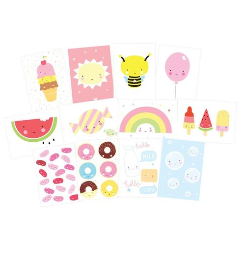 Postcard set: Cute Kawaii