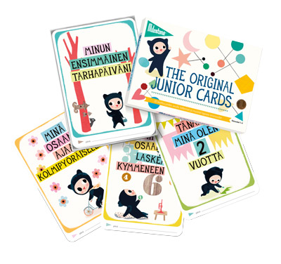 Milestone Junior Cards -setti, 30 korttia